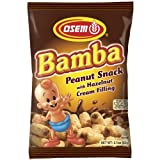 Osem Bamba Peanut Snack with Hazelnut Cream Filling, 2.1-Ounce Packages by Osem
