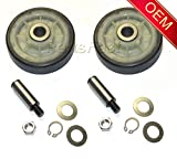 whirlpool 12001541 - (2 PACK) 12001541 303373K OEM Whirlpool Dryer Rollers and Shaft Kits