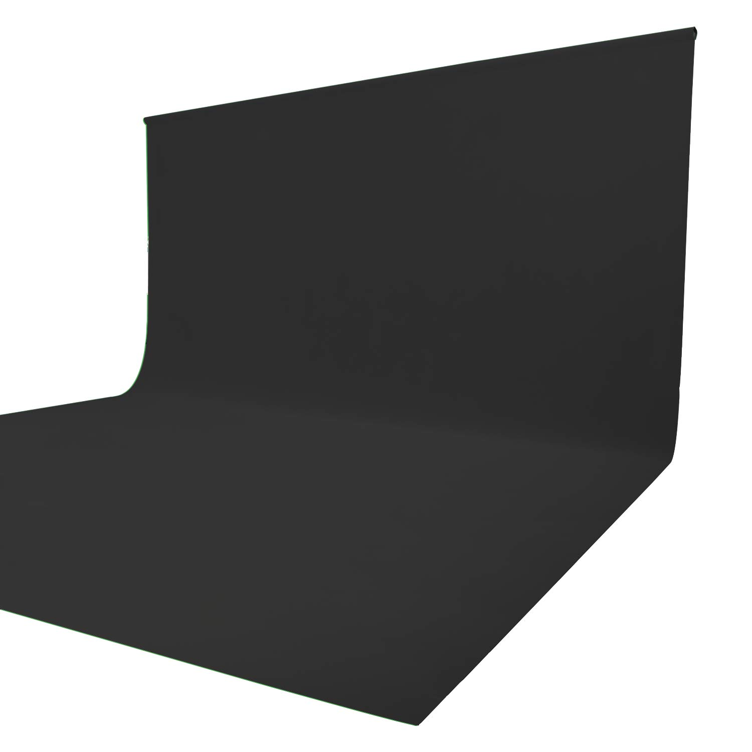 Issuntex 10X12 ft Black Background Muslin Backdrop,Photo Studio,Collapsible High Density Screen for Video Photography and Television