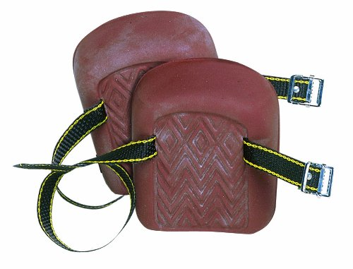 Molded Natural Rubber Knee Pads - CLC Custom Leathercraft 317 Molded Natural Rubber Kneepads, Single Strap