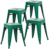Poly and Bark Trattoria 18'' Stool in Dark Green (Set of 4)