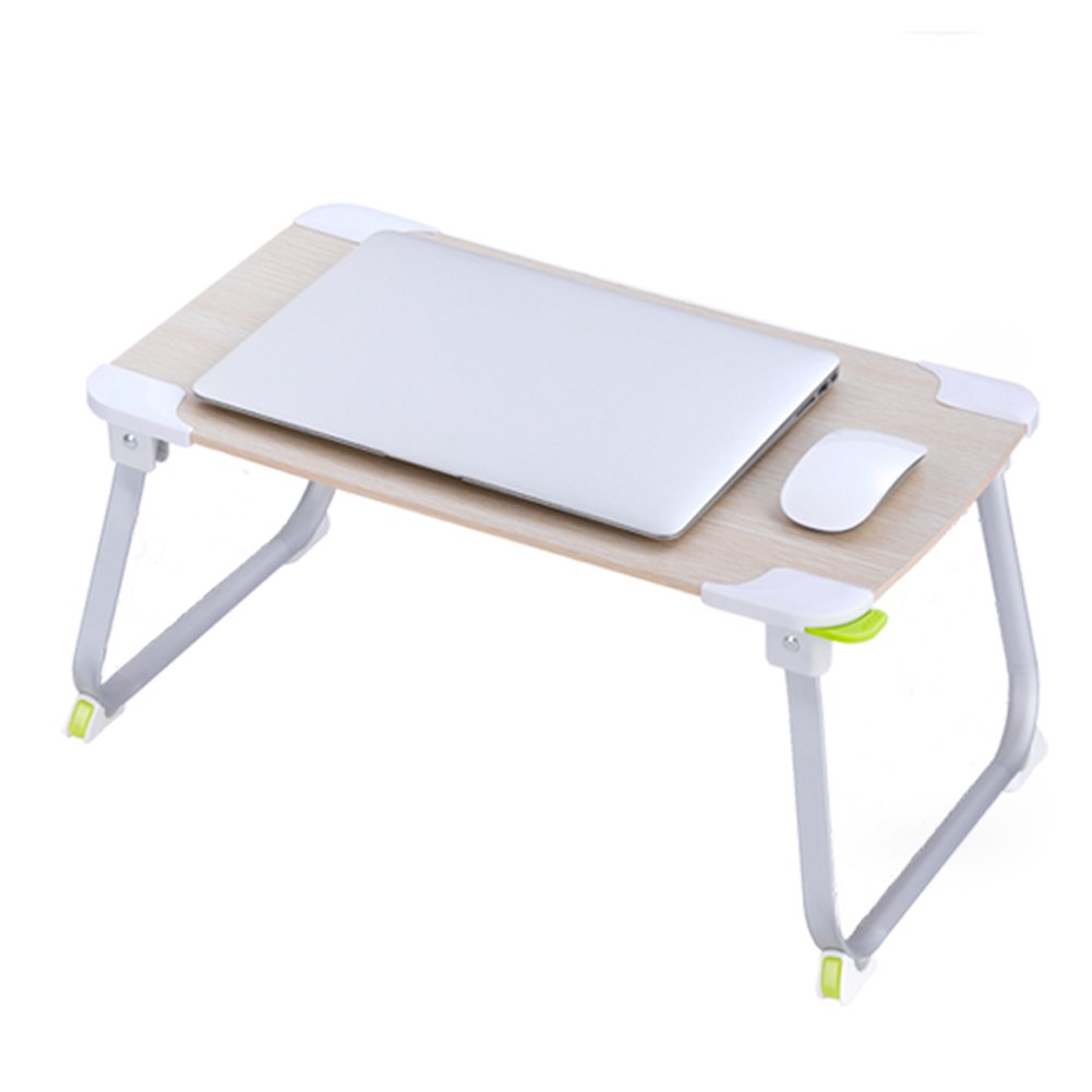 PENGFEI Portable Standing Desk Multifunction Convenient Foldable Read A Book Picnic College Students Wood Color 52.5x29.2x23.8CM