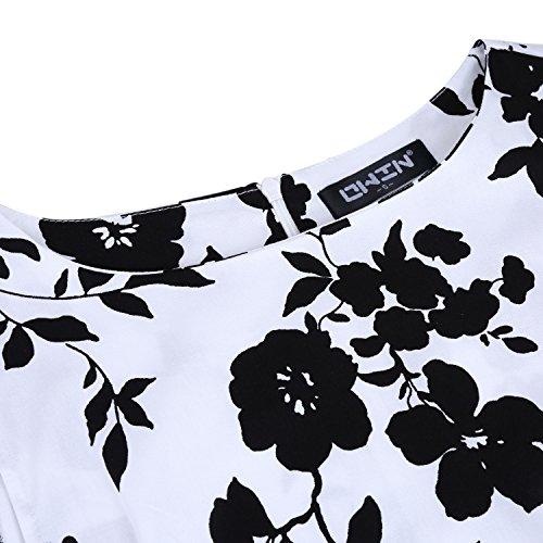 amp;black Vestito White OWIN Donna Sera dI1xcfRw
