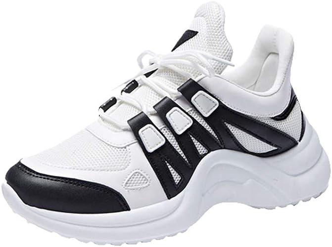 Zapatillas de Deportes Deportivos Running Zapatillas Mujeres Moda Respirable Invierno Calentar Forrado Casuales Al Aire Libre Sneakers Zapatos Tamaño 35-43: Amazon.es: Zapatos y complementos