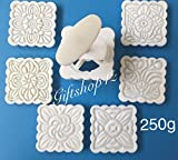 Giftshop12 Moon Cake Mold Traditional White Square Cookie Cutter Mold Extra Large 250g