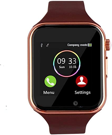 WJPILIS Smart Watch Touchscreen Bluetooth Smartwatch Wrist Watch Sports Fitness Tracker with SIM SD Card Slot Camera Pedometer Compatible iPhone iOS ...
