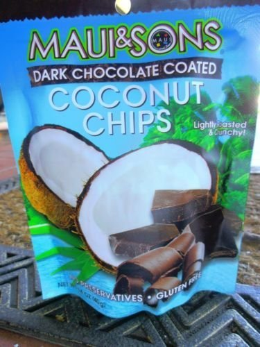 Maui n Sons Dark Chocolate Coated Coconut Chips 1.2oz(3bags)