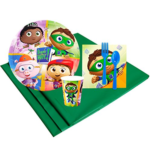 (Super Why Childrens Birthday Party Supplies - Tableware Party Pack)