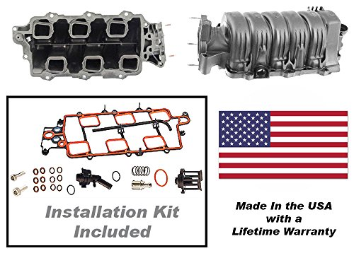 (APDTY 726291 Intake Manifold Kit Includes Gaskets & PCV Valve (USA Made) (Improved Thicker Wall & EGR Design Prevents Any Future Leaks) Fits 1995-2005 GM 3.8L 3800 2nd Generation Engine)