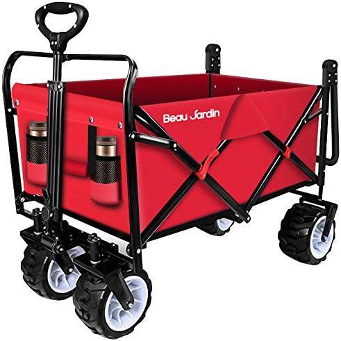Amazon.com: BEAU JARDIN Carro plegable de empuje, resistente ...