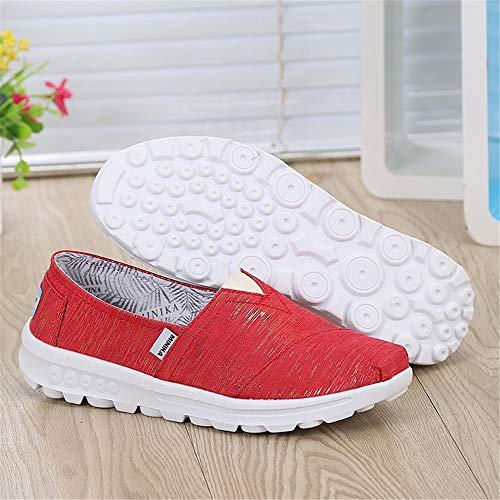 de y Rojo tamaño Shallow 40 Lona Xiaoping Shoes EU Rojo Low Zapatos FangYOU1314 Mujer Color de Cloth Zapatos Help nSPfB6P