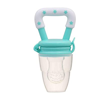 Whitegeese Baby Fruit Feeder Pacifier Fresh Food Feeder-Silicone Nipple Teething Toy-Silicone Pouches for Toddlers & Kids: Clothing