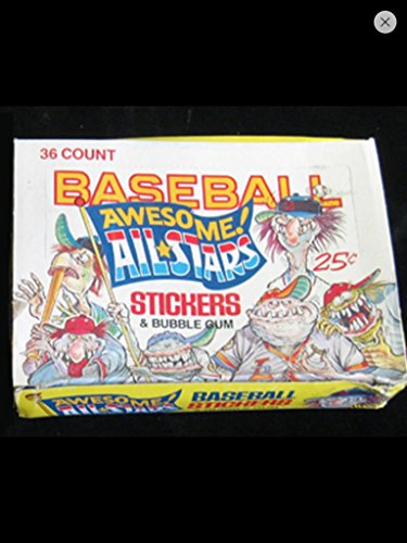 1 Box of Wacky Baseball Cards 1980s Vintage Trading Cards (36) Unopened Packs Leaf Non–sport awesome