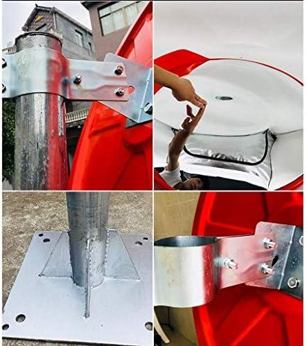 Geng カーブミラー 凸面ミラー、道路交通安全大ガレージ逆に、丈夫なポータブル広角凸面鏡