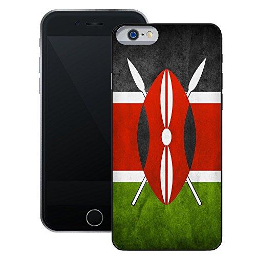 Kenia Flagge | Handgefertigt | iPhone 6 6s (4,7') | Schwarze Hülle