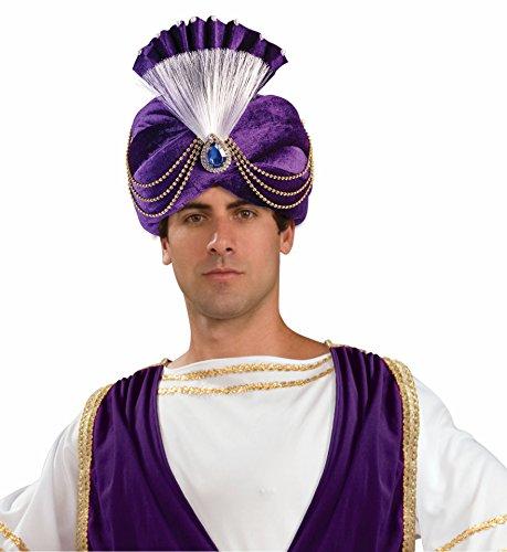 Forum Novelties Men's Purple Sultan Turban Party Supplies, - Sultan Turban