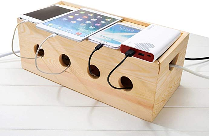 LULUDP Caja de Almacenamiento del enrutador USB Box Cable de energía eléctrica de Gaza regleta de alimentación Toma del Cable de Las Cajas de almacenaje Escritorio ordenado Organizador for PC TV Todo: