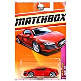 Mattel Year 2010 Matchbox MBX Sports Cars Series 1:64 Scale Die Cast Car #13 - Mid-Engine All-Wheel Drive Red Sport Car AUDI R8 (T8920)