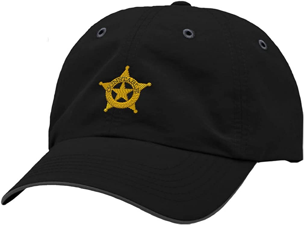 Speedy Pros Constable Police #2 Embroidery Richardson Polyester Water Repellent Cap Black/Charcoal