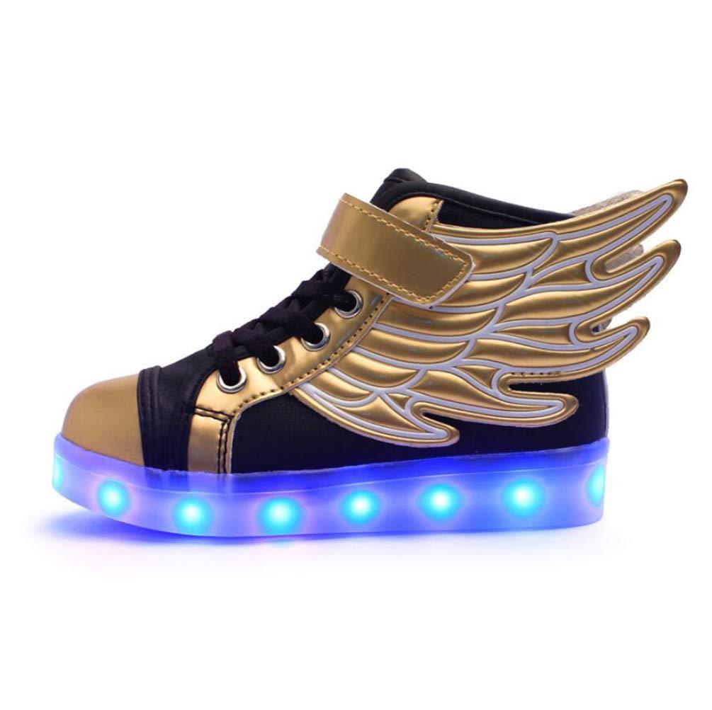 MhC Jungen Schuhe PU (Polyurethan) Sommer/Herbst Komfort/Neuheit / Leuchten Schuhe Turnschuhe Wanderschuhe Schnürung/Haken & Loop/LED für Gold