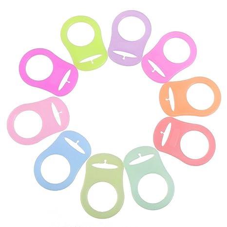 YeahiBaby Anillo de Silicona Chupete adaptador botón mam Anillo 10pcs (Colores Mezclados)