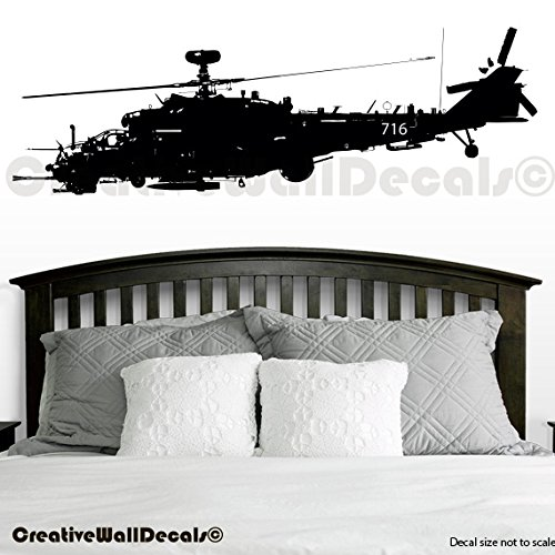 Cheap  Vinyl Wall Decal Sticker Military Helicopter Swat Kids Bedroom Army USA R1750..