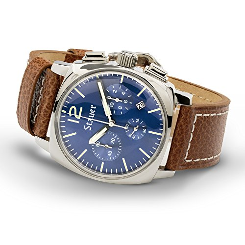 Stauer Chronograph Exemplar Watch with Leather Band
