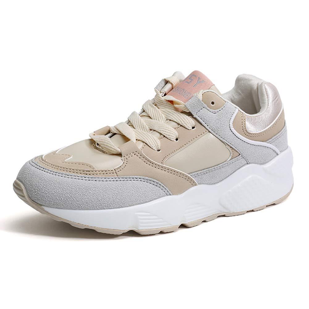 Damen-Turnschuhe Fall New Low-Top-Turnschuhe Leder-Fitness-Laufschuhe Rutschfeste leichte Turnschuhe Academy-Walking-Schuhe (Farbe   C Größe   38)
