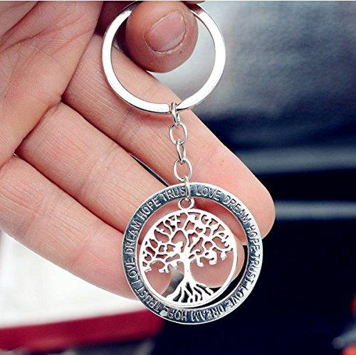 Plata Árbol de la vida llavero, con llavero, Mimi llavero, llavero de regalo de plata árbol de la vida cotidiana, única llavero, personalizado regalo