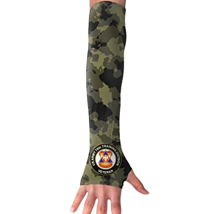 FITUV US Army 78th Training Division Veteran Camo UV Protection Long Arms Fingerless Oversleeves