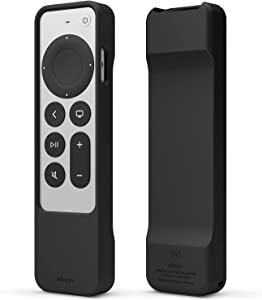 elago R1 Case Compatible with 2021 Apple TV Siri Remote - Magnet Technology, Lanyard Included, Great Grip, Heavy Shock Absorption, Drop Protection, Full Access to All Functions [Black]