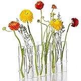 Ivolador DIY 8 Crystal Glass Test Tube Vase Flower Pots Desktop Plant Terrarium for Hydroponic Plants Home Garden Wedding Dec