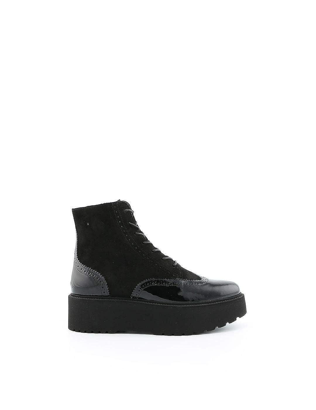 - Hogan Women's HXW3550AO1025QB999 Black Leather Ankle Boots