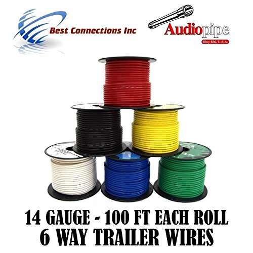 trailer light cable wiring for harness 100ft spools 14 gauge 6 wire
