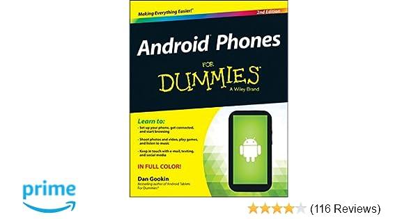 android phones for dummies dan gookin 9781118720301 amazon com books rh amazon com motorola droid cell phone user manual Motorola WX416 Cell Phone