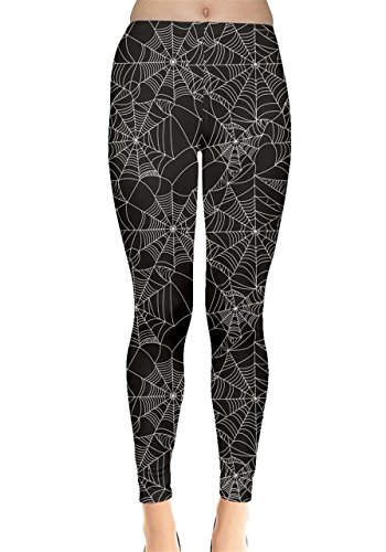 - CowCow Womens Black Halloween Spider Web Women's Leggings, Black - 3XL