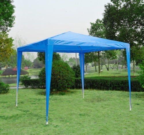 Jardín Resistente Gazebo, 2, 7 x 2.7 m-blue – homcom 2, 7 m X 2, 7 m jardín carpa toldo para boda, color azul: Amazon.es: Jardín
