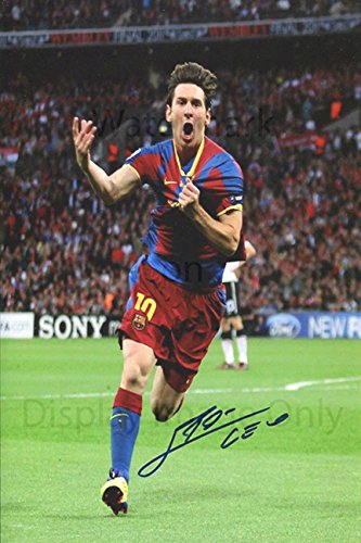 Lionel Messi Autograph Replica Poster - Barcelona - Greatest Ever?