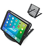 Portable Mesh Laptop/Tablet Stand, Folding/Adjustable Ventilated Table, Desk, Tray For Computer, Notebook, Ipad - Black. By Mega Stationers
