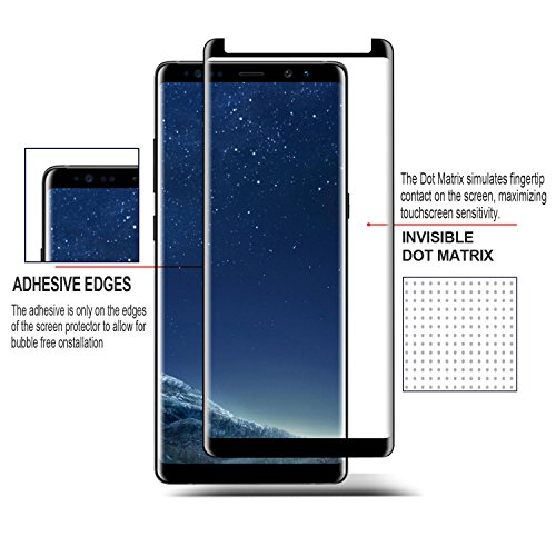 [2-PACK] Galaxy S8 Plus Screen Protector Glass [Easy Installation Tray], iAnder 3D Curved [Tempered Glass] Screen Protector for Galaxy S8 Plus S8+ [Case Friendly] by iAnder (Image #3)