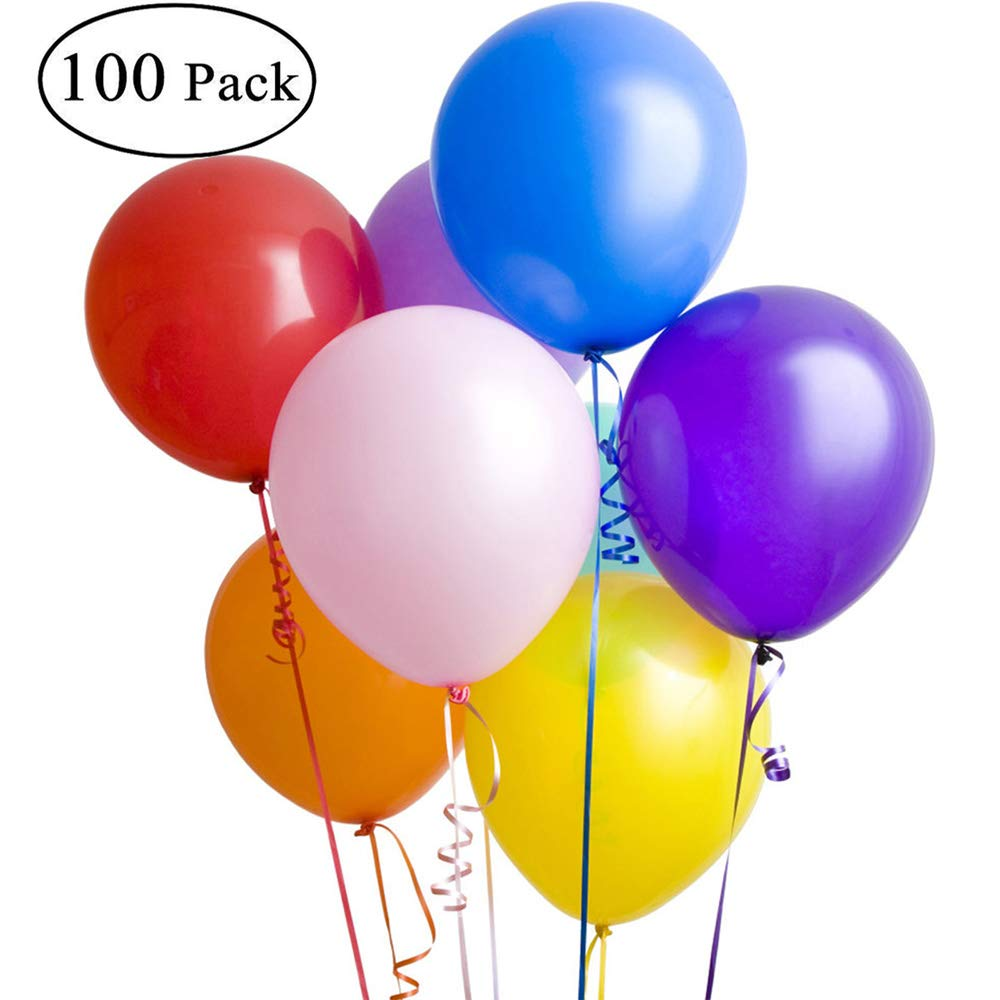 Assorted Colors 12-inch,Multicolor Latex Balloons YouquTime Pastel Balloons Birthday Party,100-Pack