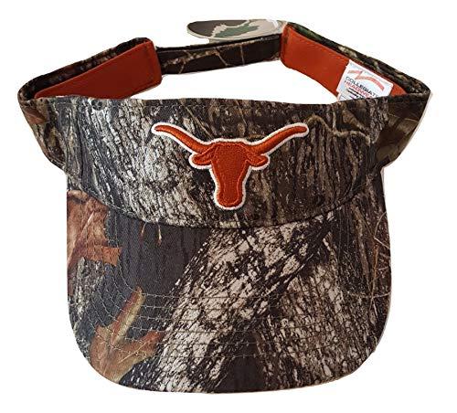 Texas Longhorns Visor Cap. Mossy Oak Camo