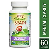 Host Defense – MycoBotanicals Brain Mushrooms and Herb Capsules, Helps Clarity, Concentration, Memory, and Adrenal Health with Lion's Mane, Ginkgo, and Bacopa, Non-GMO, Vegan, Organic, 60 Count