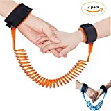 Image of Anti Lost Wrist Starp, SnowCinda 2 Packs Safety Wrist Link Harness Strap Steel Rope Leash Walking Hand Belt for Kids Children Boys Girls, 4.9 ft Long (2M)