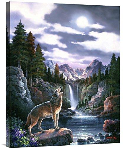 Global Gallery - wolf moon wall art - moon wall decor