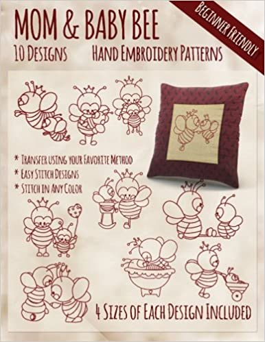 Mother And Baby Bee Hand Embroidery Patterns Stitchx Embroidery
