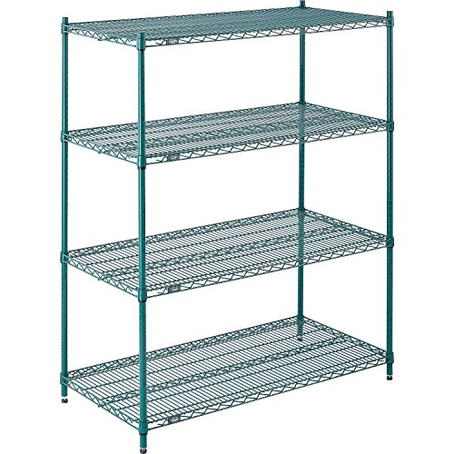 Nexel Wire Shelving, Green Epoxy, 48