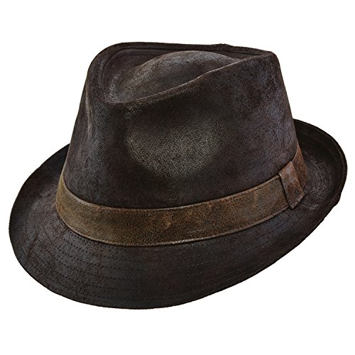 Stetson Brown Weathered Fedora product image