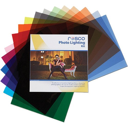 Rosco Photo Lighting Filter Kit, 12 x 12'' Sheets by Rosco