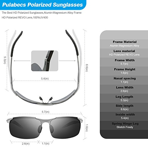 190acd10d012 60%OFF Pulabecs Men s Sports Style Polarized Sunglasses Driver Glasses PS071